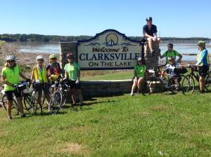 ECG Cyclists arrive in Clarksville