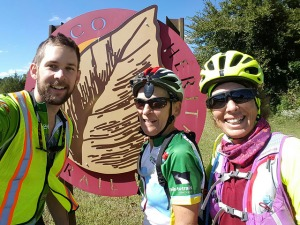 Niles, Donna, Jane at Tobacco Heritage Trail